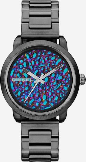 DIESEL Quarzuhr 'DZ5428' in neonblau / graphit / dunkellila, Produktansicht