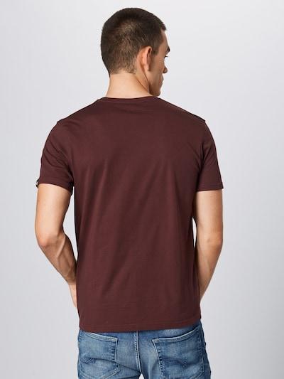 ALPHA INDUSTRIES Shirt in de kleur Wijnrood: Achteraanzicht