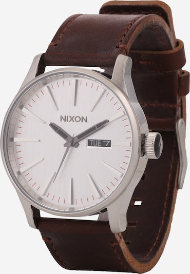 Nixon Armbanduhr  'Sentry Leather' in braun / silber, Produktansicht