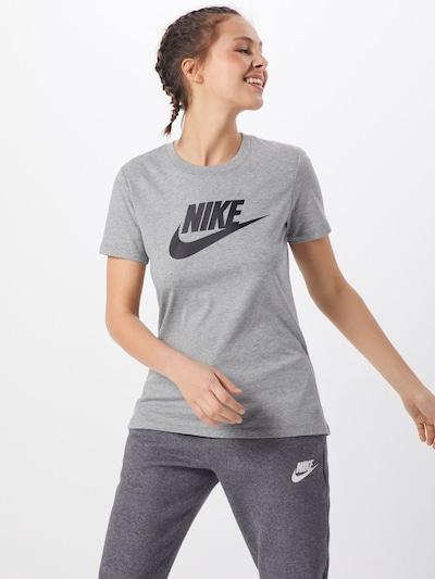 Nike Sportswear Shirt 'Futura' in graumeliert / schwarz, Modelansicht