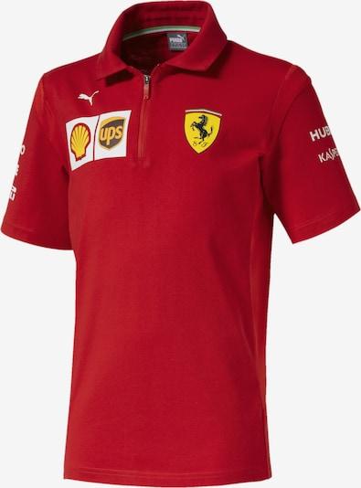 PUMA Polo 'Ferrari' in limone / feuerrot / weiß, Produktansicht