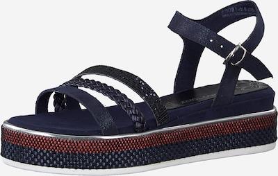 MARCO TOZZI Sandale in dunkelblau / rot, Produktansicht