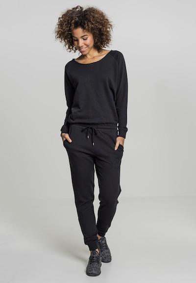Urban Classics Jumpsuit 'Terry' in de kleur Zwart, Modelweergave