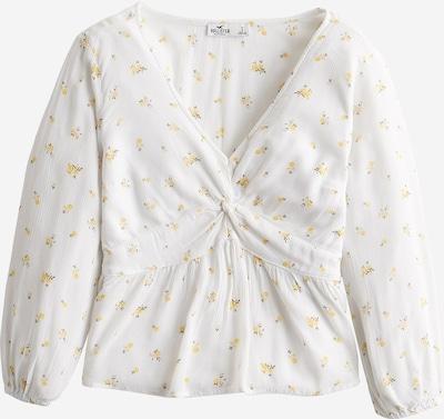 HOLLISTER Bluzka 'TWIST' w kolorze żółty / białym, Podgląd produktu