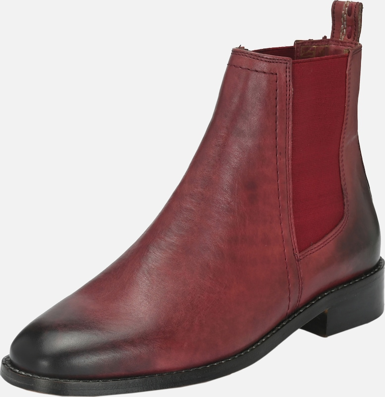 Crickit Chelsea Boots 'Anica' in rot / dunkelrot: Frontalansicht