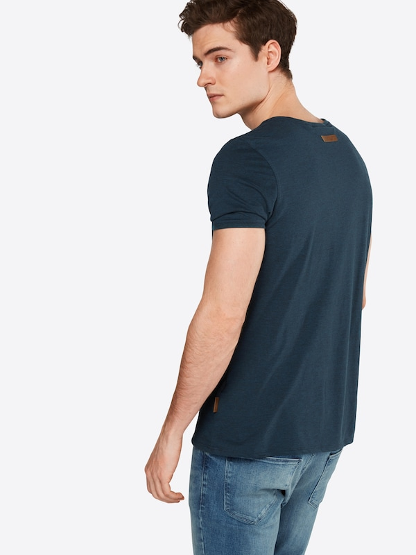 naketano T-Shirt in Melange-Optik