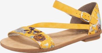 Sandales à lanières RIEKER en jaune