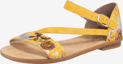 RIEKER Sandale in gelb / mischfarben, Produktansicht