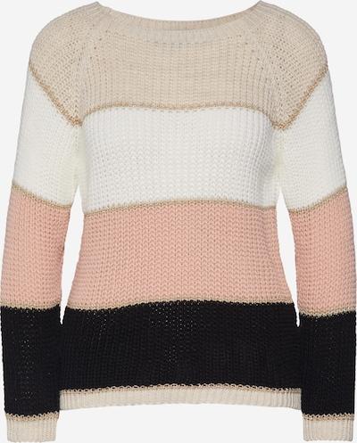 Hailys Pull-over 'Missy' en beige / rose / noir / blanc cassé, Vue avec produit