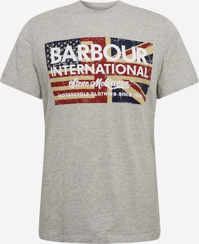 Barbour International T-Shirt en bleu / gris / rouge, Vue avec produit