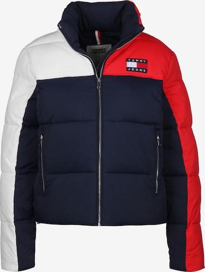 Tommy Jeans Winterjacke 'Colorblock Puffa W' in blau / rot / weiß, Produktansicht