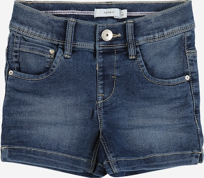 NAME IT Shorts 'SALLI' in blue denim: Frontalansicht