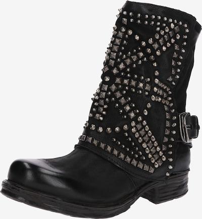 A.S.98 Biker-Boots in schwarz: Frontalansicht