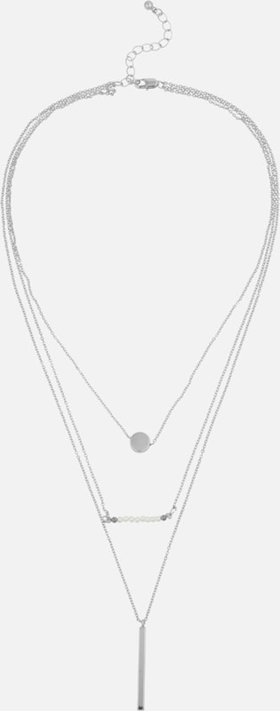 PIECES Kette 'PCJOSEPHINE COMBI NECKLACE' in silber, Produktansicht