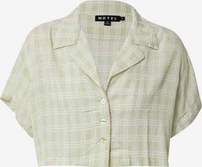 Motel Blouse in de kleur Lichtgroen / Wit, Productweergave
