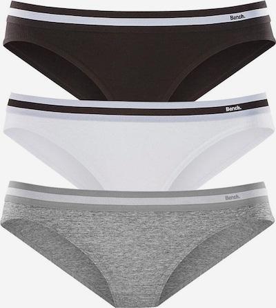 BENCH Slips (3 Stück) in grau / schwarz / weiß, Produktansicht