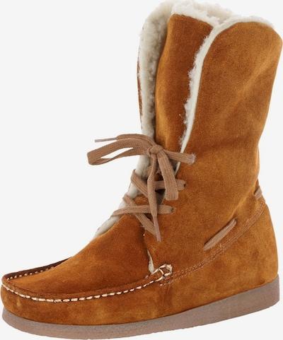 Boots da neve heine di colore cognac: Vista frontale