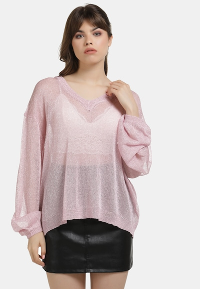 myMo at night Pullover in pink, Modelansicht