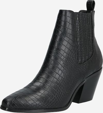 Bianco Chelsea boots 'CLEMETIS' in de kleur Zwart: Vooraanzicht