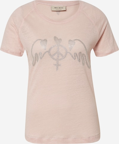 MOS MOSH Shirt 'Mag Linen Tee SS' in rosa / silber, Produktansicht