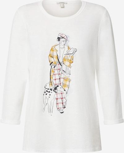 ESPRIT Shirt in goldgelb / grau / schwarz / offwhite, Produktansicht
