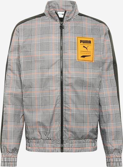 PUMA Jacke in grau / orange / schwarz, Produktansicht