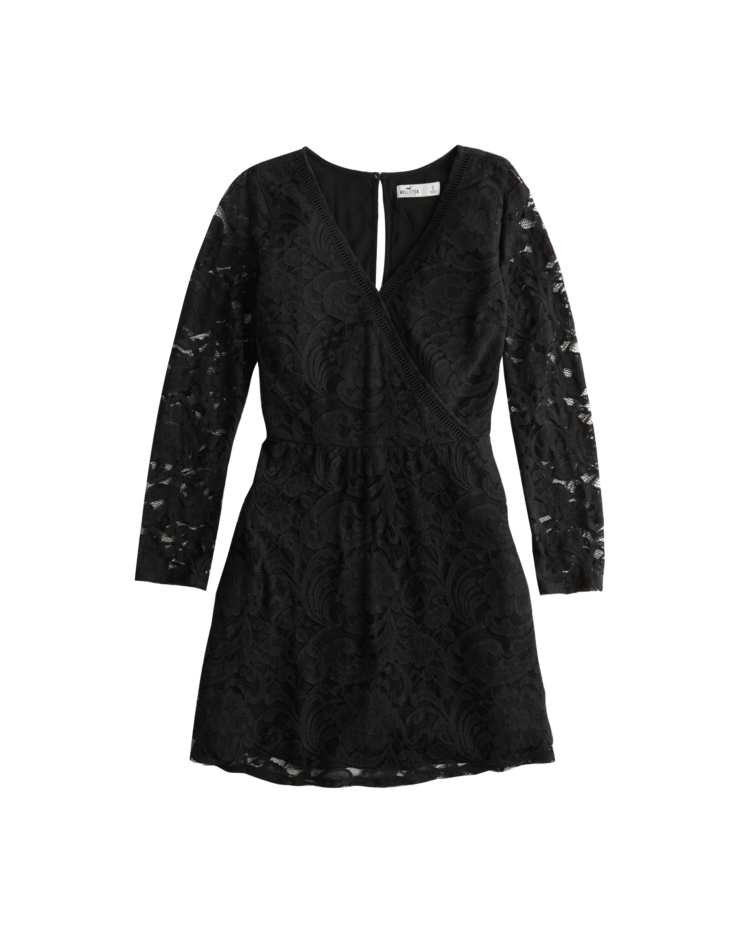 Noir Robe nb 'bts18 Hollister En Lace Dress' Yyf76bg