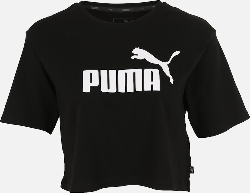 PUMA Shirt 'Elevated' in schwarz / weiß, Produktansicht