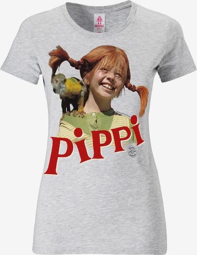 LOGOSHIRT T-Shirt mit coolem 'Pippi Langstrumpf'-Print in hellgrau, Produktansicht