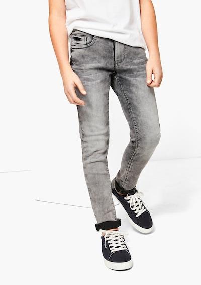 s.Oliver Jeans in grey denim: Frontalansicht