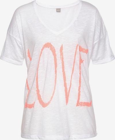 BENCH V-Shirt in beige / hellorange, Produktansicht