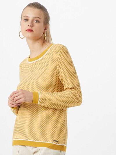 ESPRIT Pullover in gelb / weiß, Modelansicht