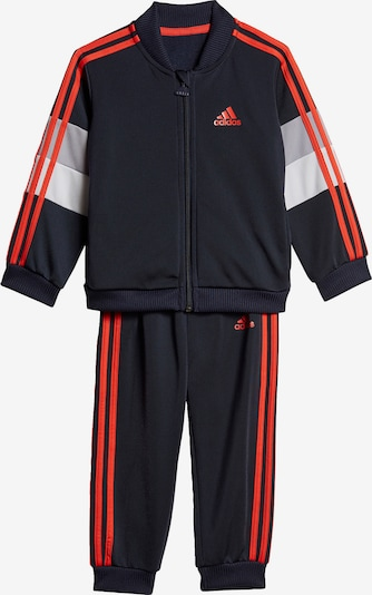 ADIDAS PERFORMANCE Trainingsanzug 'Shiny' in marine / grau / rot / weiß, Produktansicht