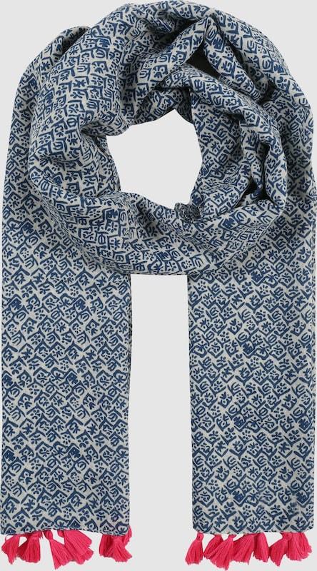 Zwillingsherz Schal mit Tasseln