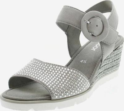 GABOR Sandalen/Sandaletten in grau / silber, Produktansicht