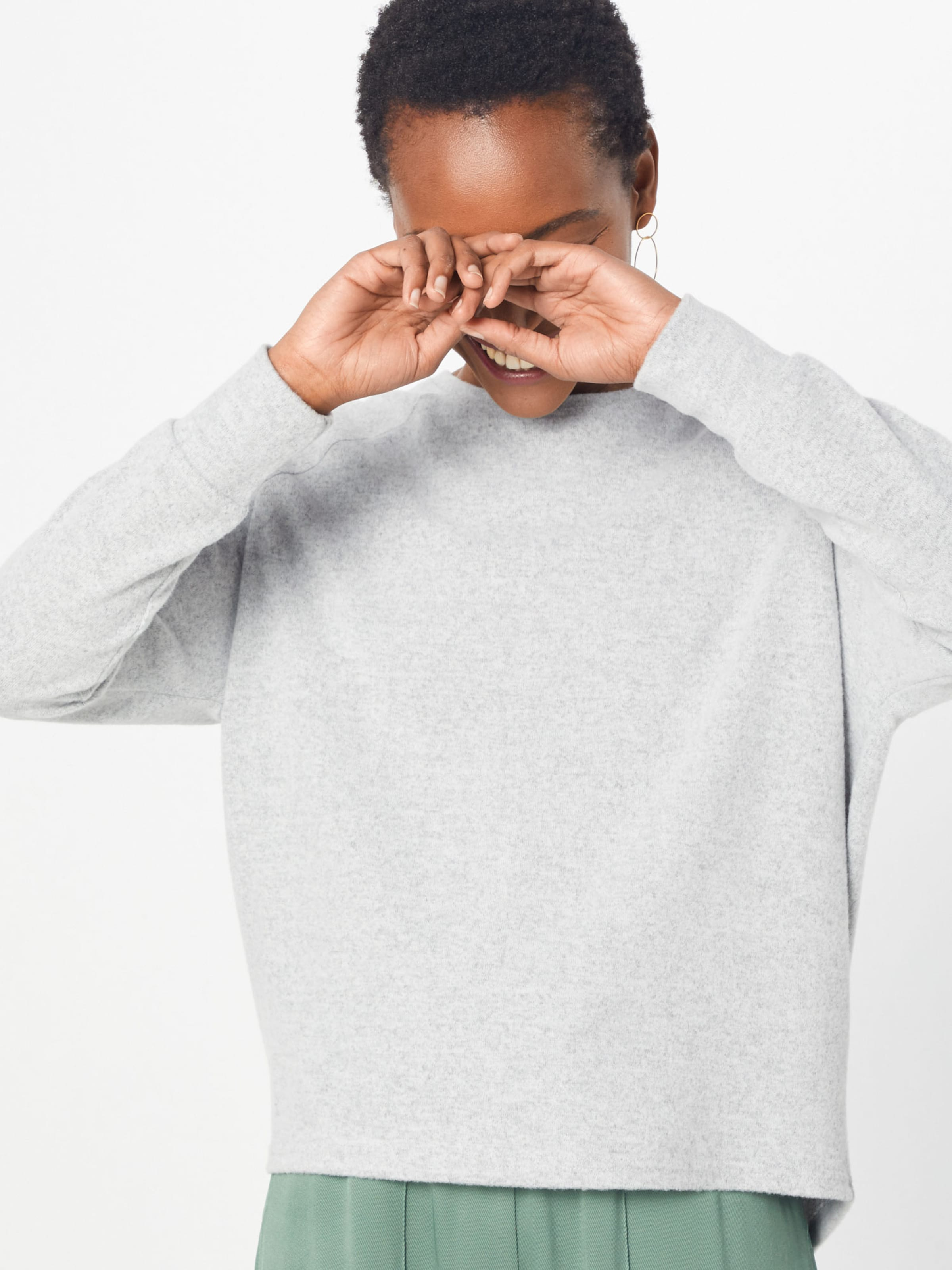 Top' shirt Noisy Gris Clair Sweat L En May 'nmcity s Zip dBoxeWQErC