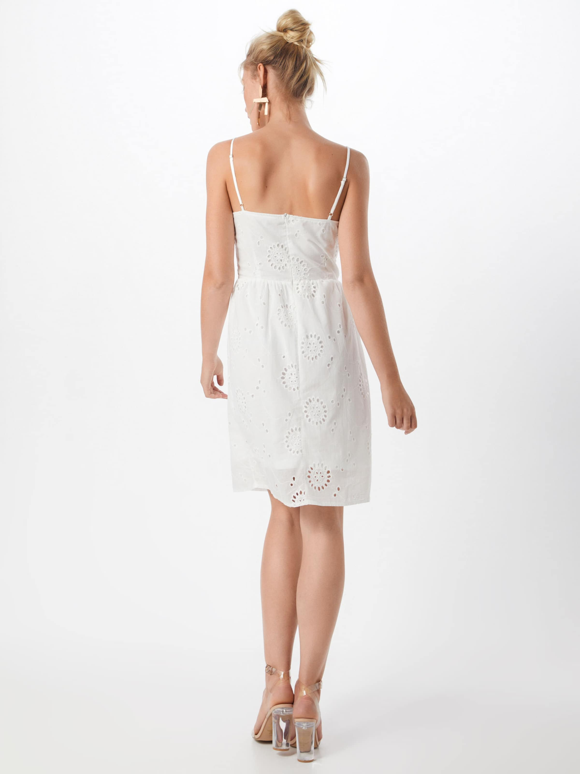 Robe Front Blanc Missguided 'tie D'été Broderie' En VLqUzMSjpG