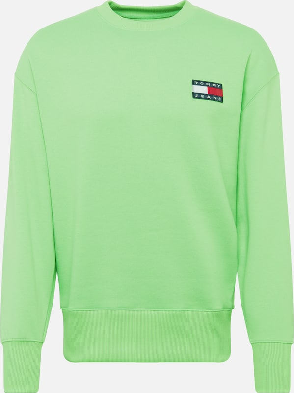 Tommy Jeans Sweatshirt 'BADGE NEON' in de kleur Neongroen, Productweergave