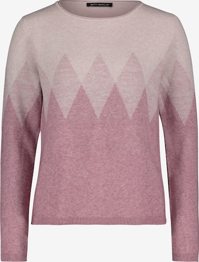 Betty Barclay Strickpullover mit Muster in rosa: Frontalansicht