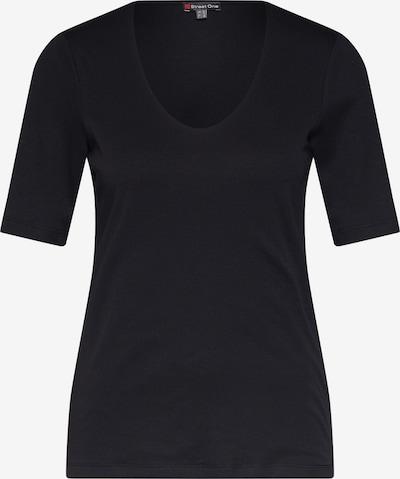 STREET ONE Shirt 'QR Palmira' in schwarz, Produktansicht