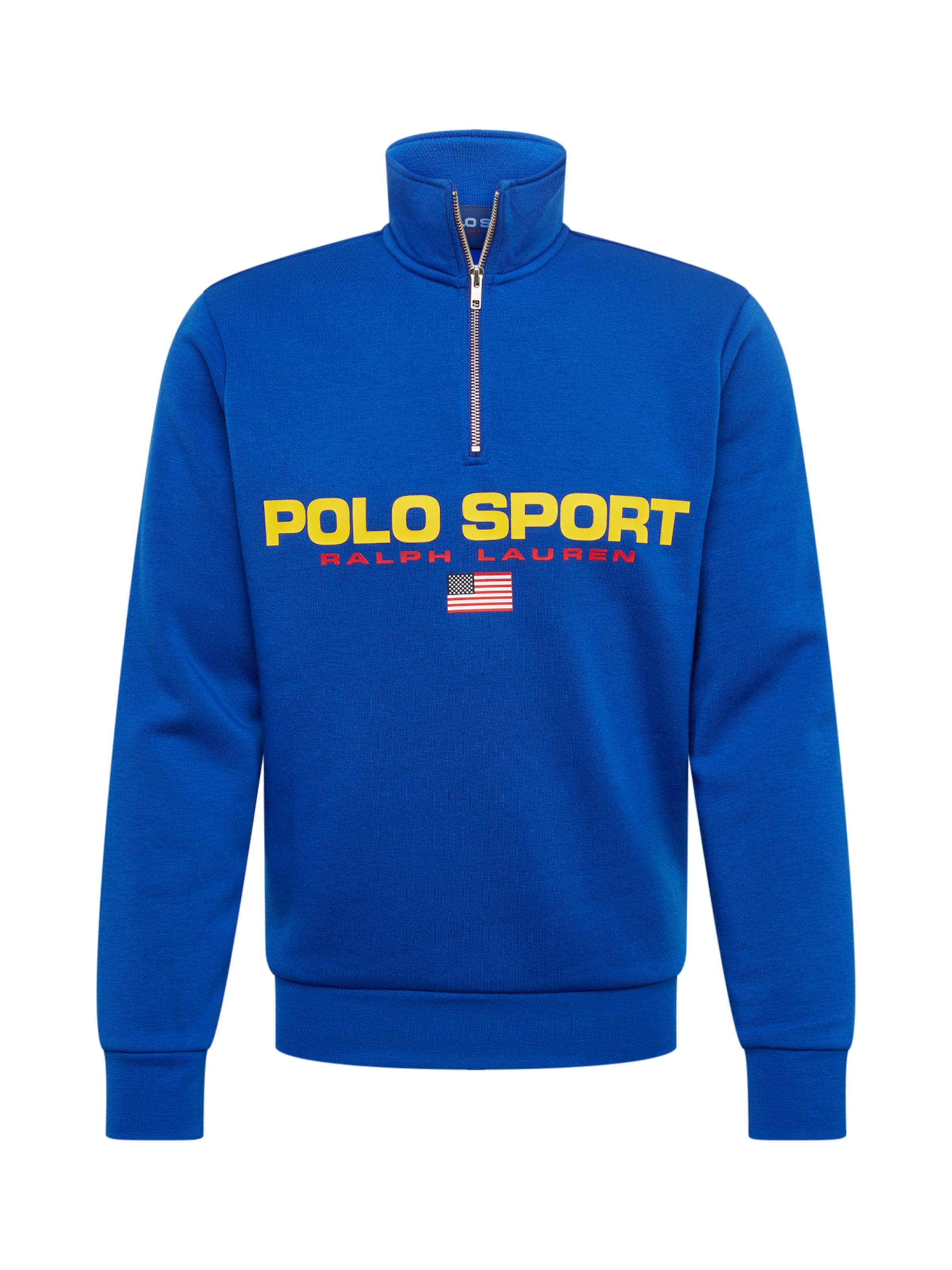 In Polo Ralph BlauGelb knt' Sweatshirt Fleece lsl 'neon Lauren QdCtsrh