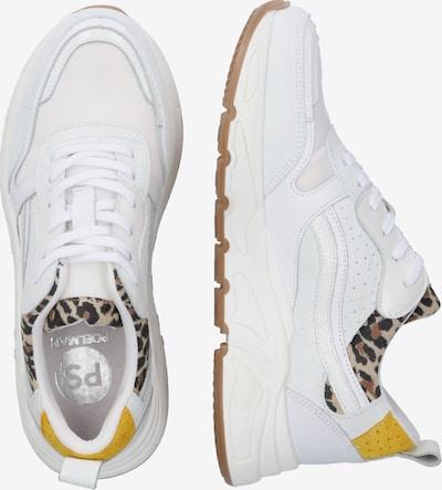 Sneaker low '5614' PS Poelman pe bej / maro / portocaliu / negru / alb: Privire laterală