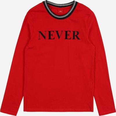 s.Oliver Junior Shirt in rot / schwarz, Produktansicht