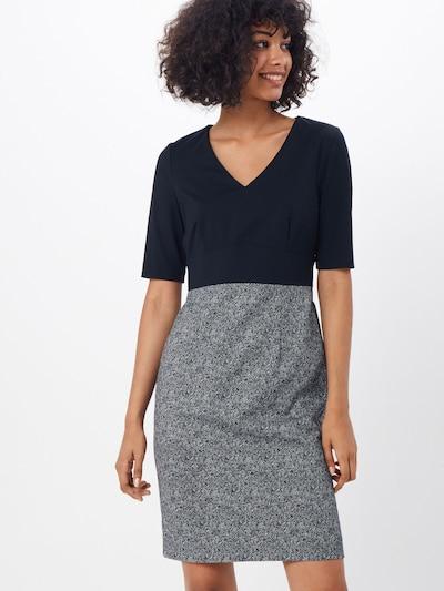 COMMA Kleid in nachtblau / weiß, Modelansicht