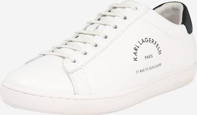 Karl Lagerfeld Zemie brīvā laika apavi 'KUPSOLE II' melns / balts, Preces skats