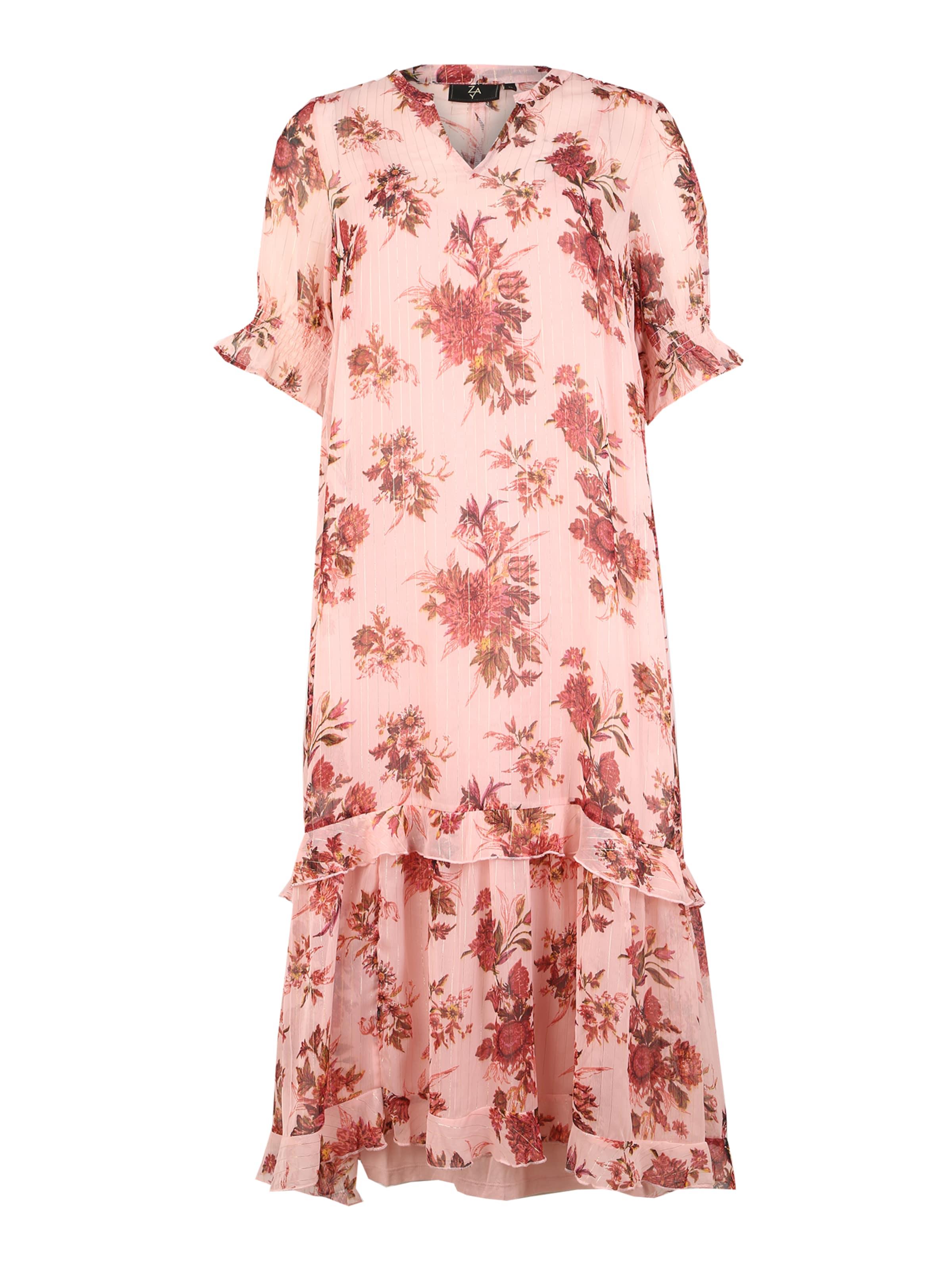 Zay Klänning i rosa / körsbärsröd