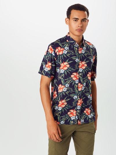 BURTON MENSWEAR LONDON Overhemd 'HIKO' in de kleur Navy: Vooraanzicht