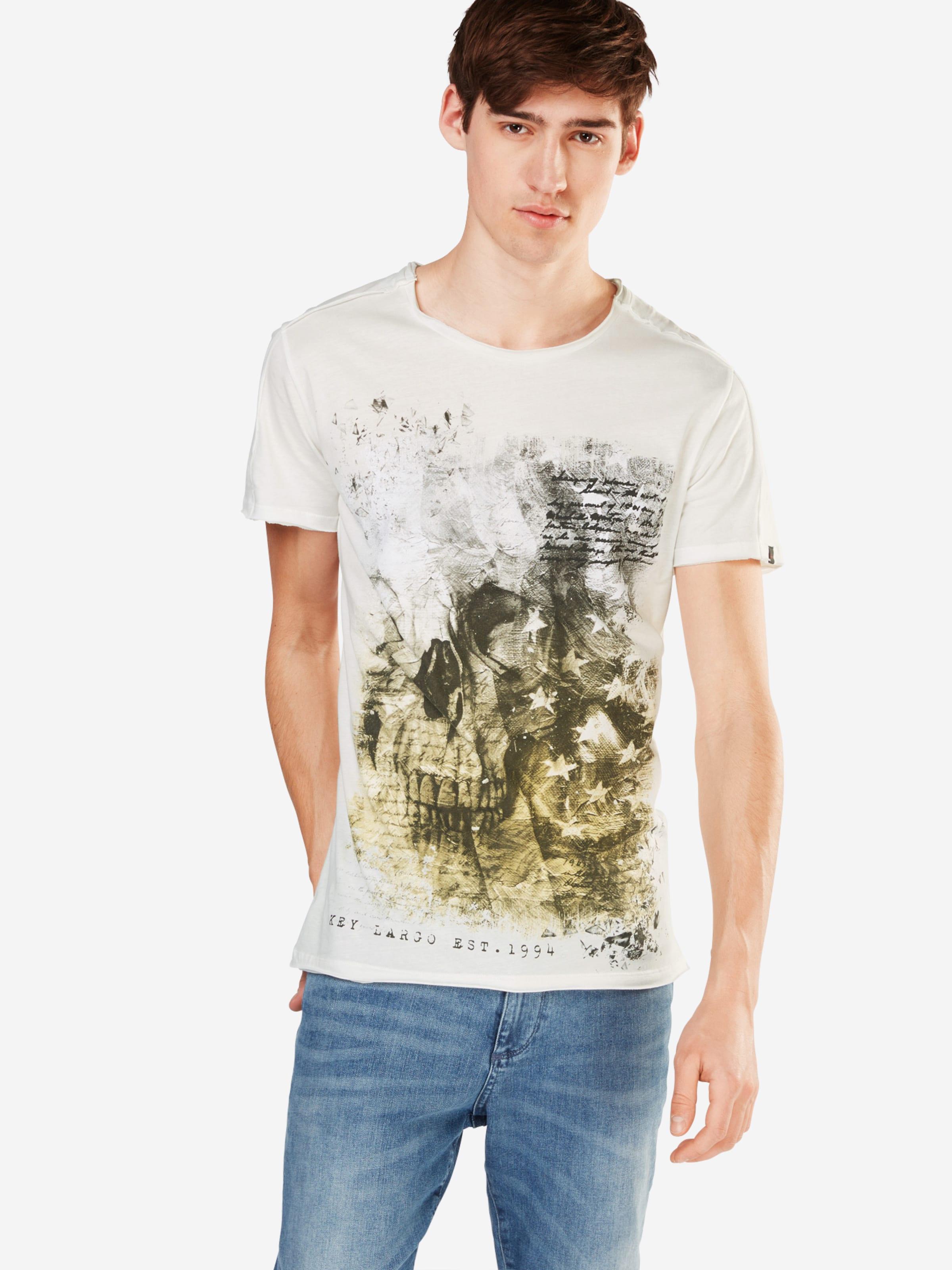 Washington Key Largo Offwhite 'mt DunkelgelbRauchgrau shirt T Round' In sCQdxBtrh