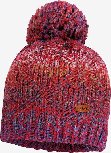 MAXIMO Mütze in mischfarben / rot, Produktansicht