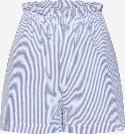 Wemoto Hlače z naborki 'MAJORIE' | modra / bela barva, Prikaz izdelka